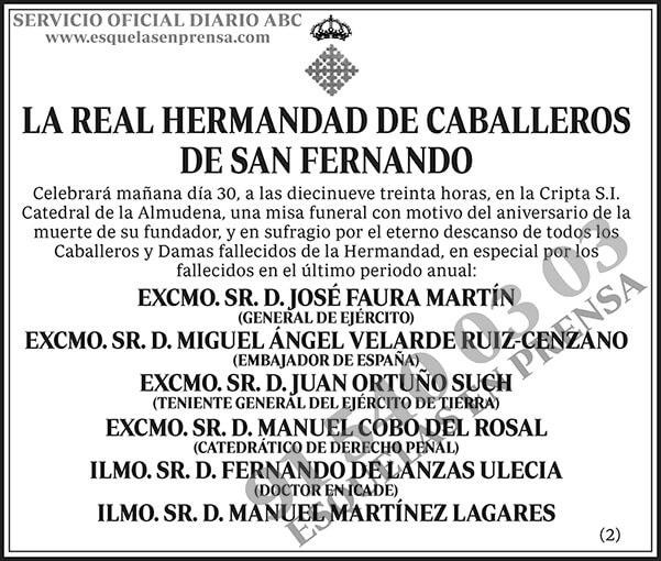 La Real Hermandad de Caballeros de San Fernando